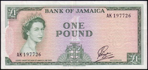 1 ямайский фунт, возраст 26 лет