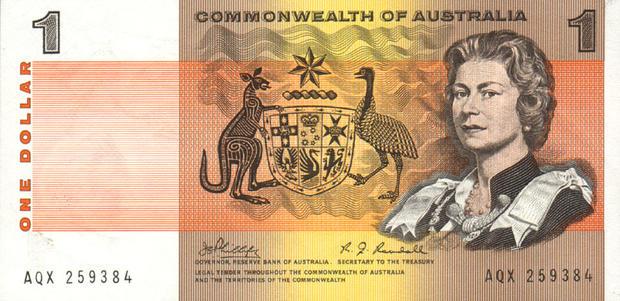 1 австралийский доллар, возраст 38 лет