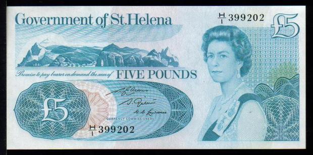 5 фунтов Святой Елены, возраст 40 лет