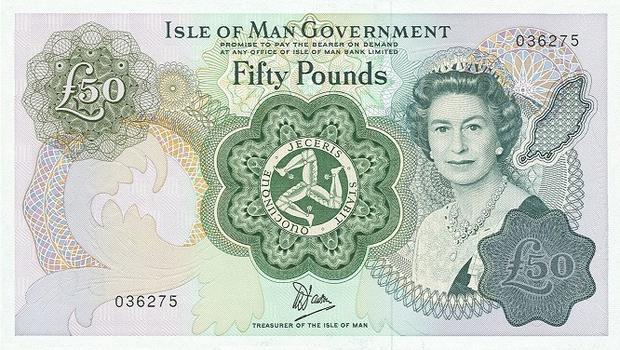 50 фунтов Острова Мэн, возраст 51 год