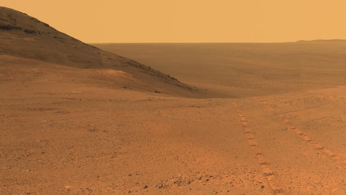 Панорамный вид на Марсе