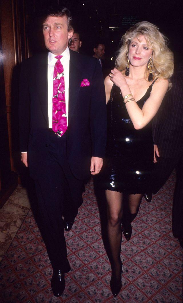 Дональд и его будущая вторая жена Марла Мейплз, 1991 год