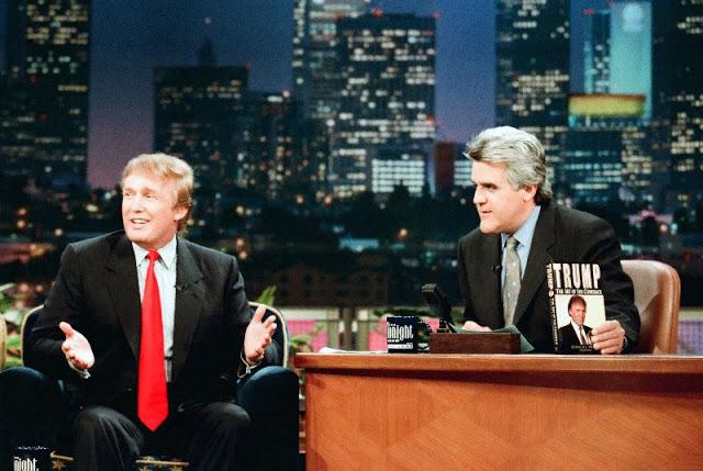 Дональд Трамп на вечернем шоу с ведущим Джей Лено