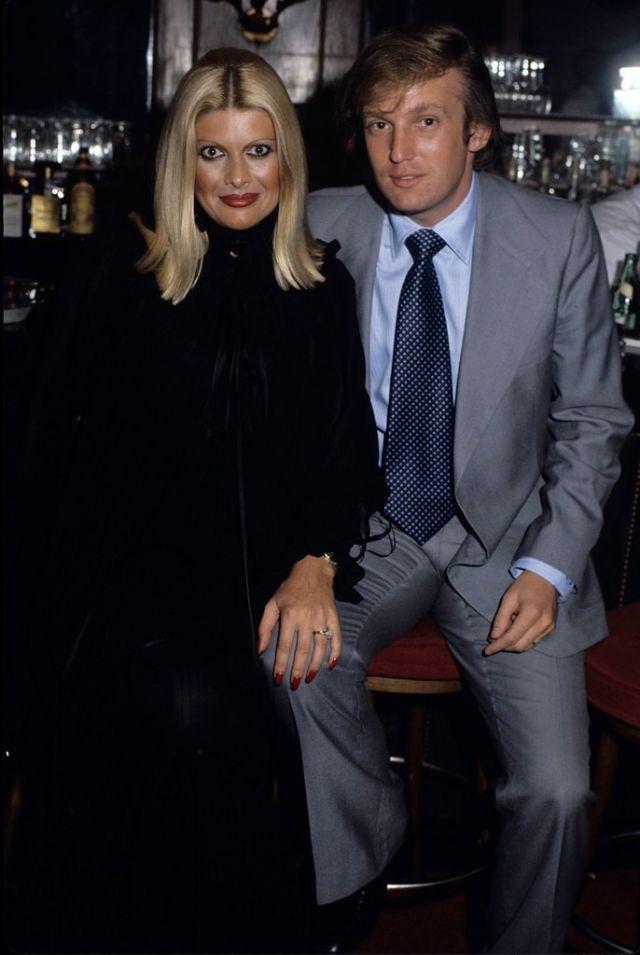 Дональд Трамп со своей первой женой Иваной Трамп, Нью-Йорк, 1982 год