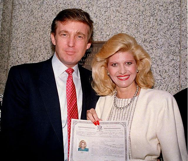 Дональд и его первая жена Ивана, 1988 год
