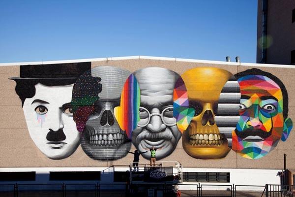 Красочный стрит-арт от Окуды Сан Мигеля