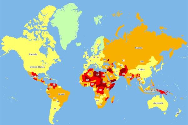 Интерактивные карты самых опасных стран мира