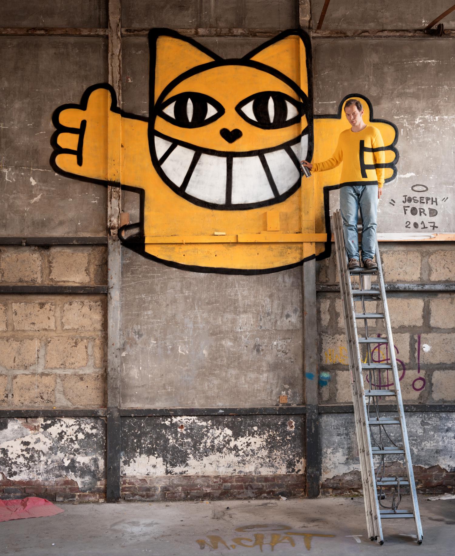 Вязаный камуфляж: смешение с городской средой в проекте Джозефа Форда