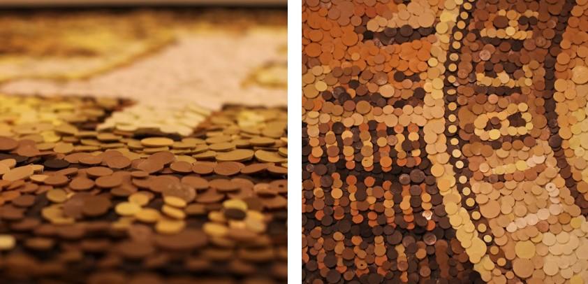 Мозаики из тысяч скульптурных деталей от Кевина Шампени