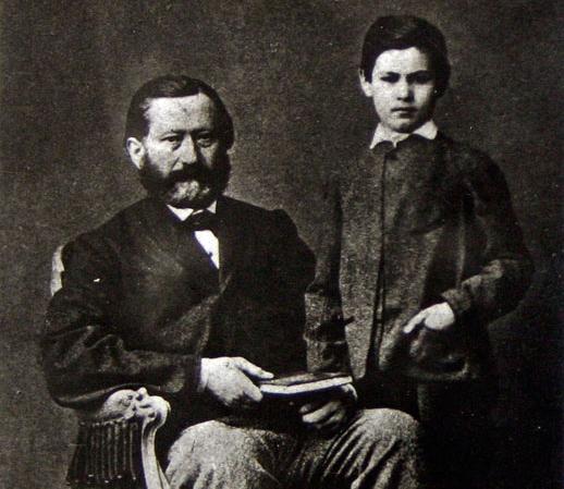 Зигмунд Фрейд с отцом