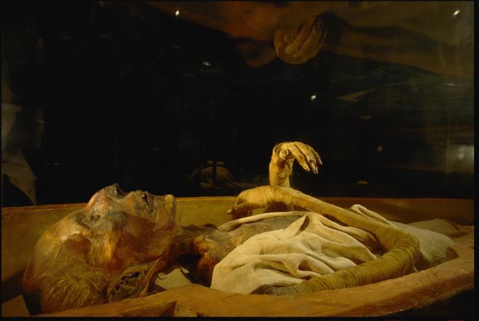 Мумия Рамсеса II в Египетском музее Каира