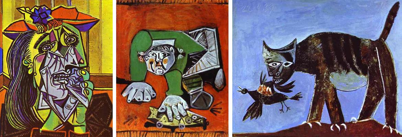 Картины Пабло Пикассо военного и послевоенного периодов