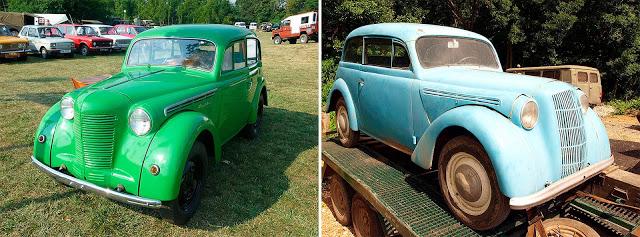 Москвич-400 (1946—1954) // Opel Kadett K38 (1937—1940)