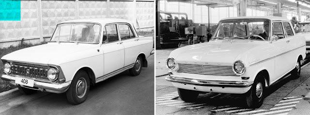 Москвич-408 (1964—1975) // Opel Kadett A (1937—1940; 1962—1993)