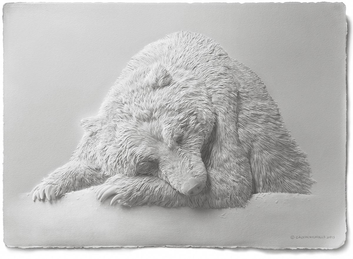 Изящные скульптуры животных из бумаги от Кэльвина Николлса
