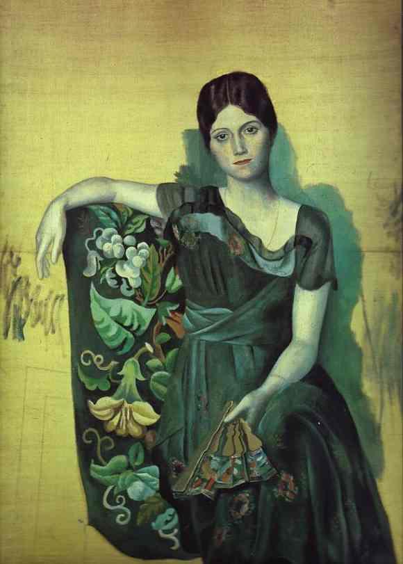 Портрет Ольги в кресле, 1917 год