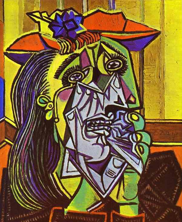 «Плачущая женщина», 1937 год