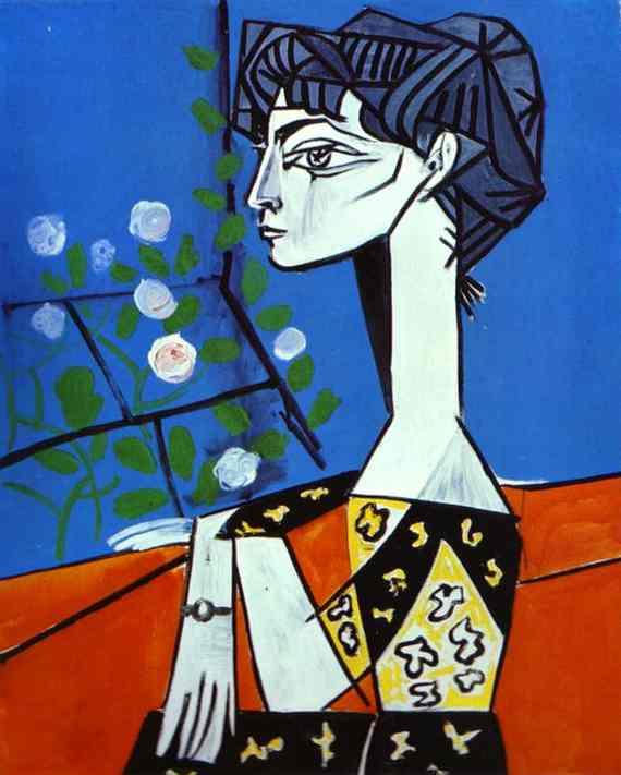 «Жаклин с цветами». 1954 год
