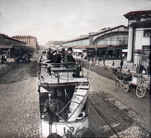 Сенная площадь, Санкт-Петербург, конец 19 века