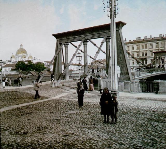 Египетский мост, Санкт-Петербург, конец 19 века