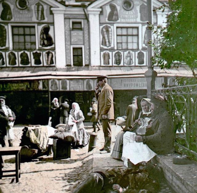 Рынок в Санкт-Петербурге, конец 19 века