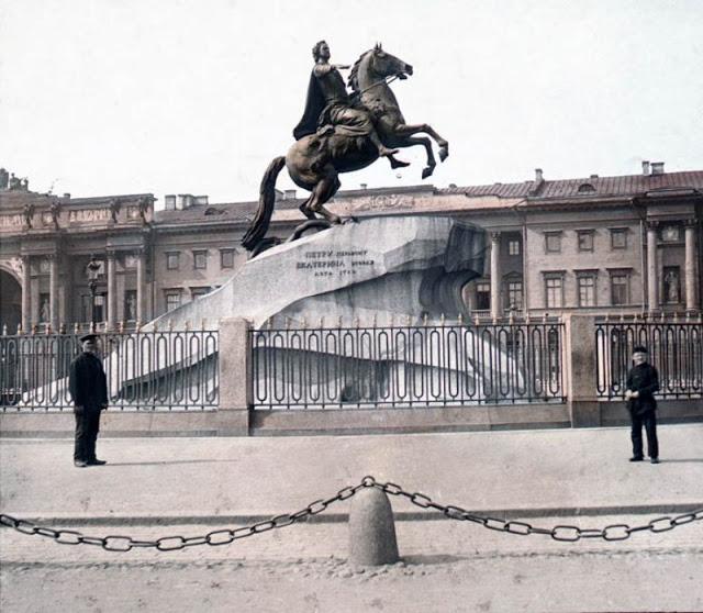 Медный всадник, Санкт-Петербург, конец 19 века
