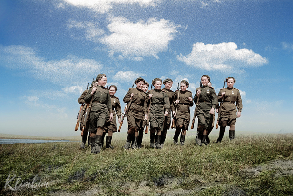 Женщины-снайперы из 2-го Белорусского фронта