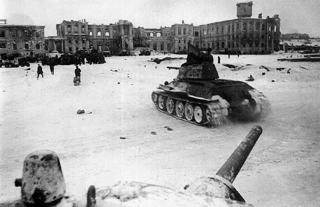 Танки Т-34 в Сталинграде