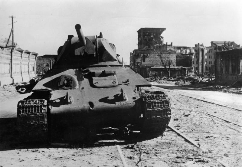 Подбитый советский танк Т-34