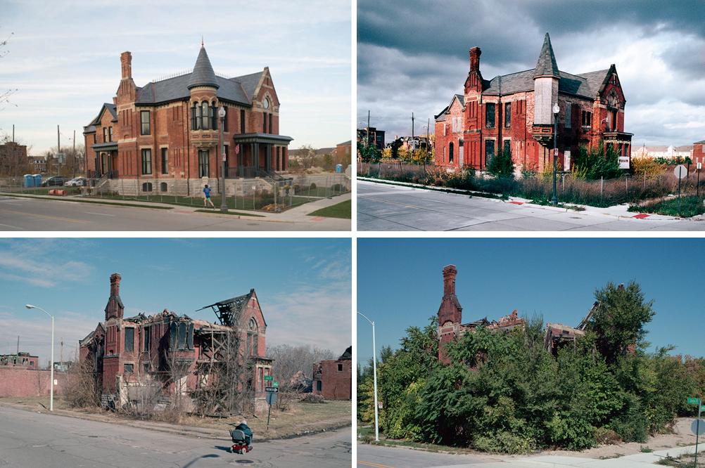 Ransom Gillis House (в настоящее время отреставрирован), Детройт