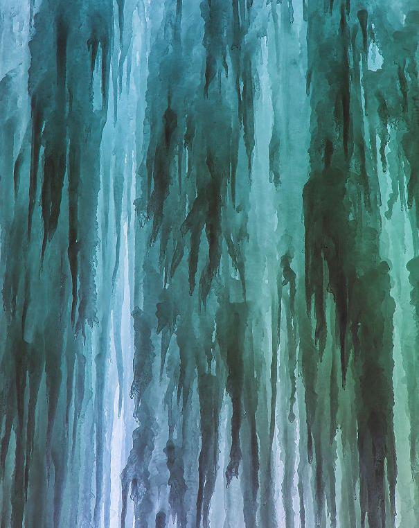«Моя фотография замёрзшего водопада, которая больше похожа на акварельную живопись»
