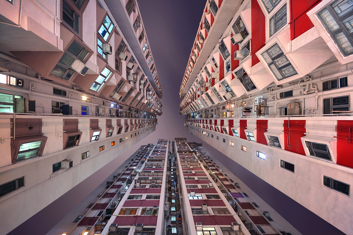 Гонконгские каменные джунгли в фотографиях Ромена Жаке-Лагре