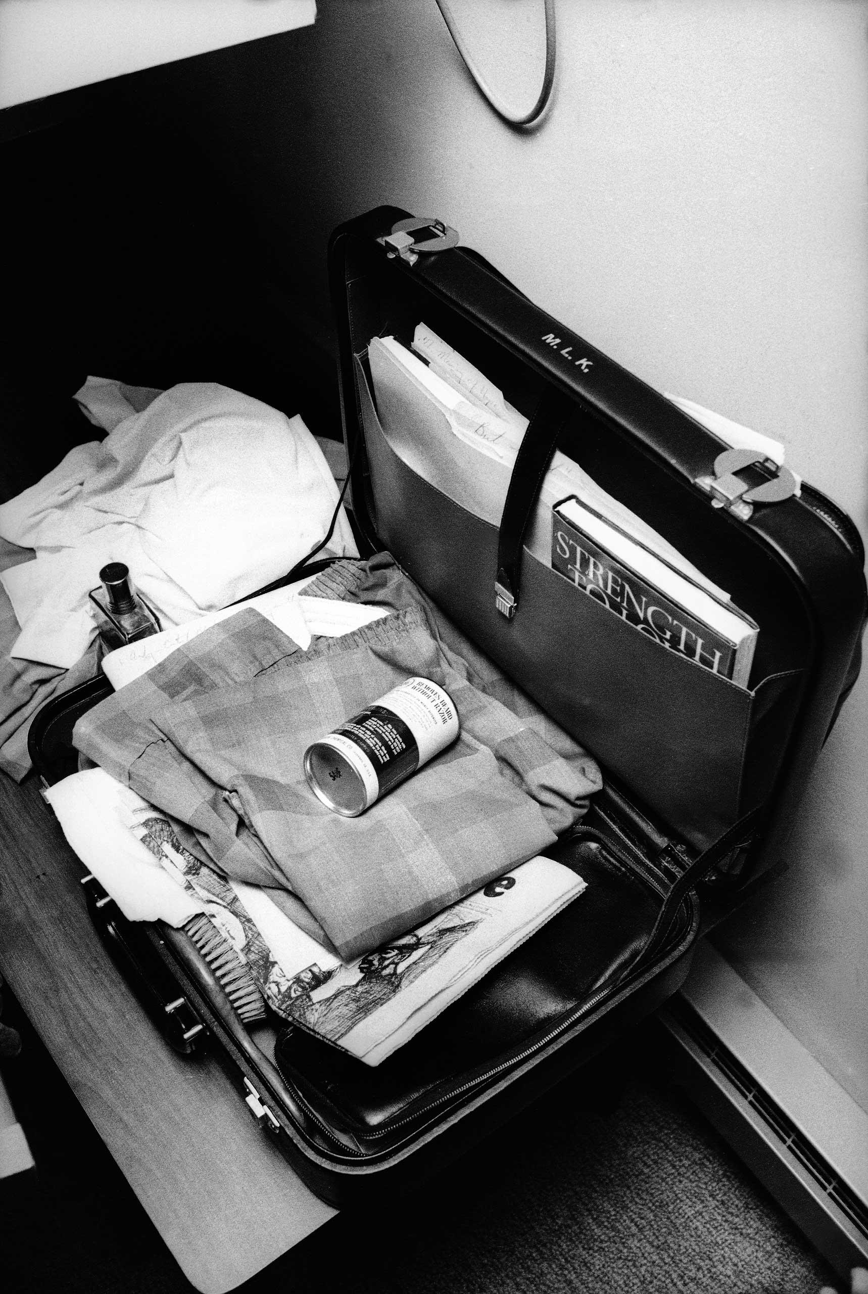 Аккуратно упакованный чемоданМартина Лютера Кинга