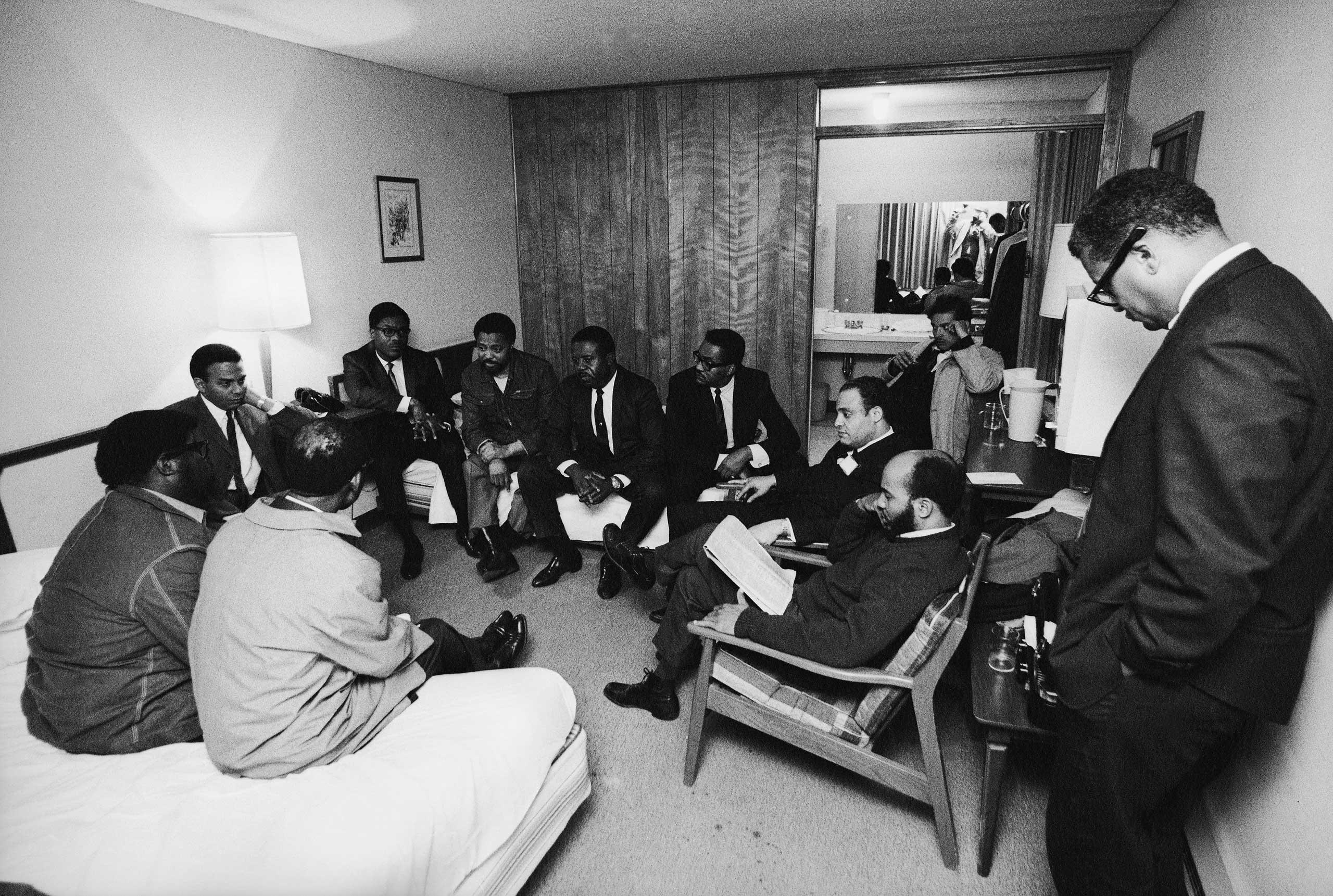 Коллеги Кинга в его номере в день убийства