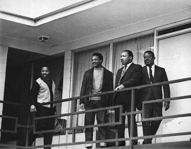 Мартин Лютер Кинг за несколько часов до убийства
