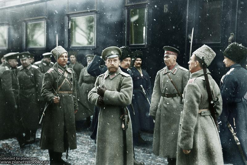 Николай II посещает армию, 1916 год