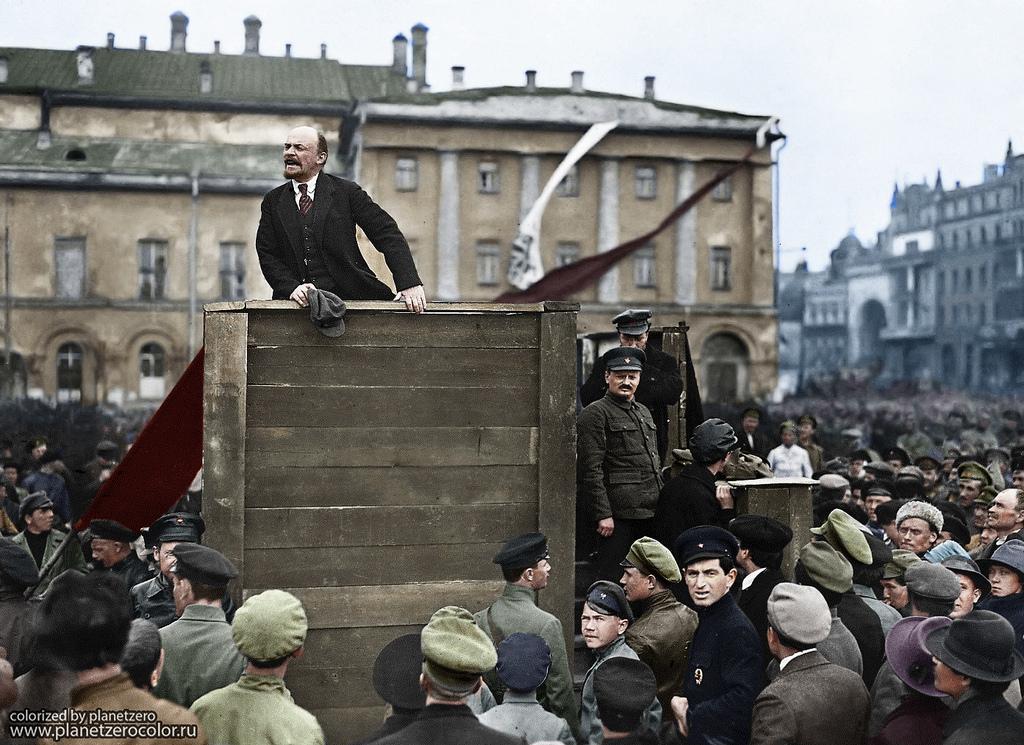 Выступление Ленина в Москве перед солдатами, отправляющимися на фронт, 5 мая 1920 года
