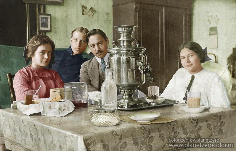 Чаепитие, 1910 год