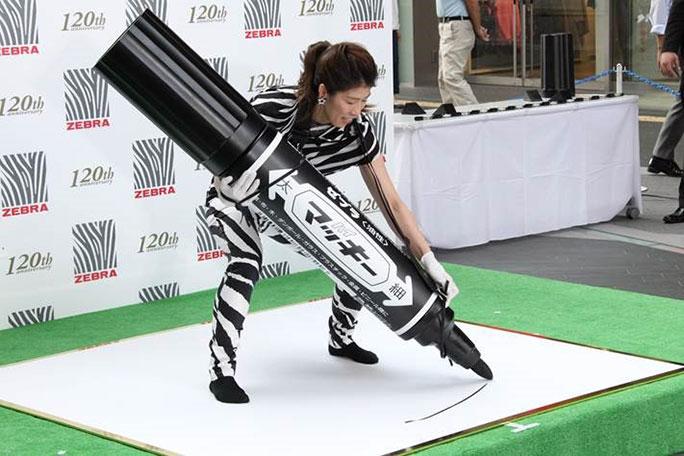 Самый большой фломастер, Zebra
