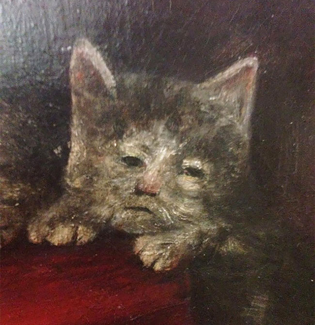 Чудные портреты котов в живописи Средневековья