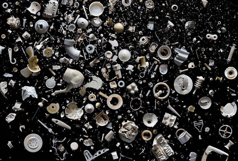 Пластиковые отходы, собранные за два захода на восточном побережье Англии