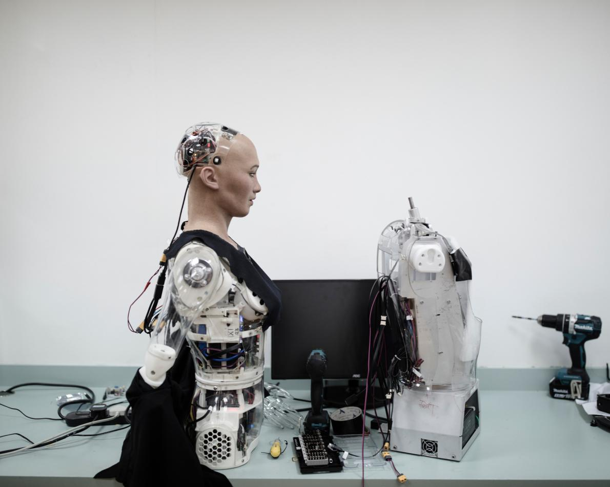 София в лаборатории