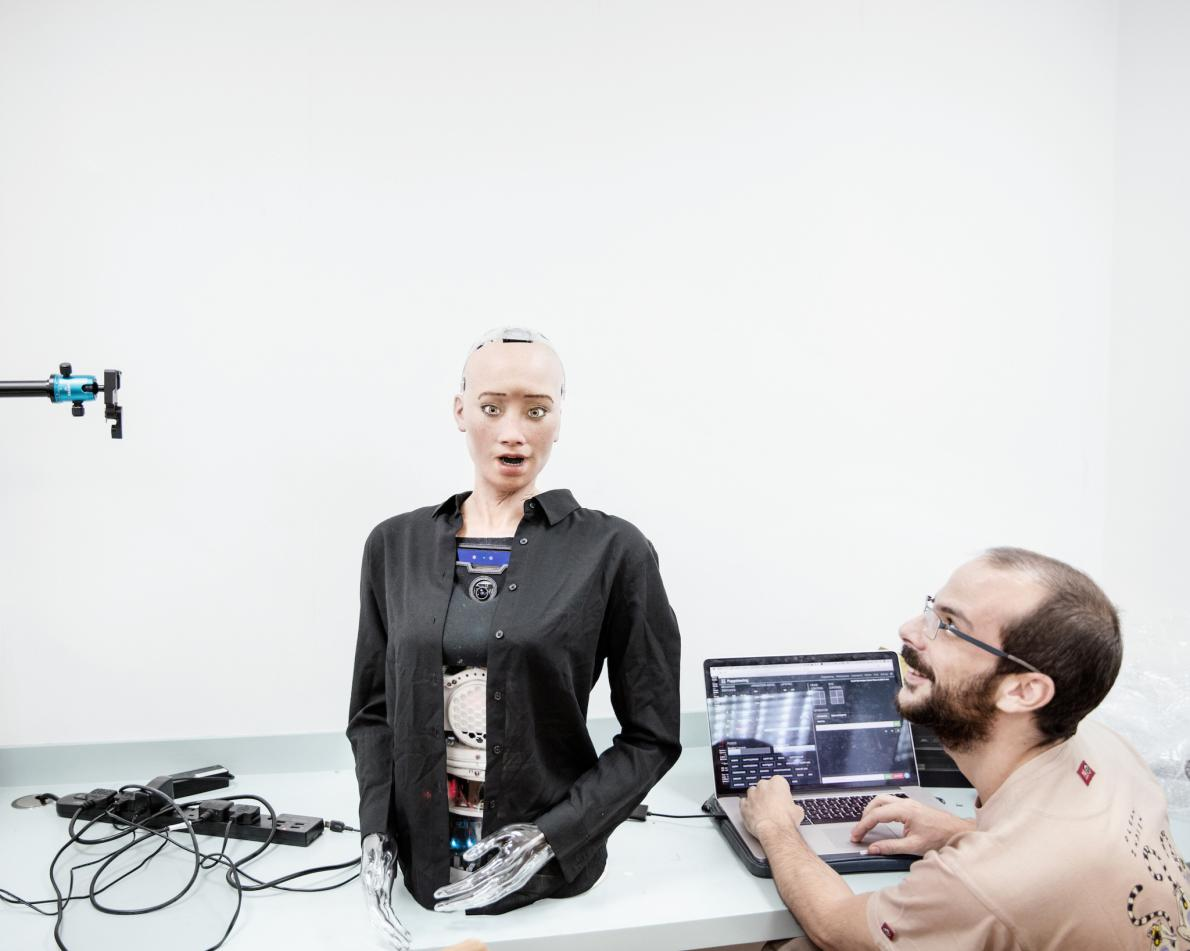 Звукорежиссёр в «Hanson Robotics» работает с Софией