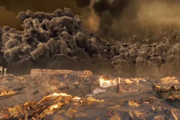 Видео: разрушающая мощь Везувия и гибель Помпеи