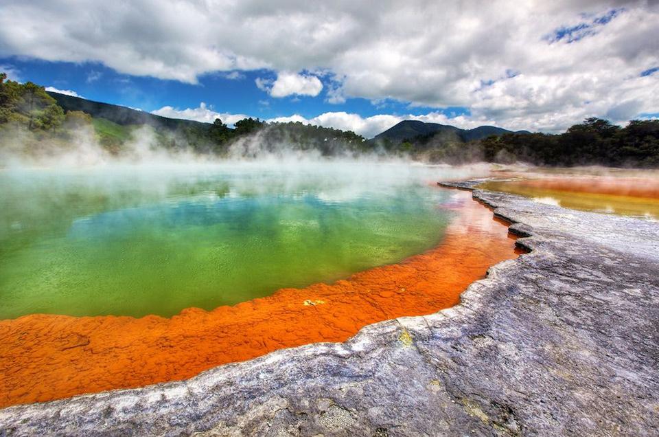 Горячий источник Шампейн-Пул, Новая Зеландия