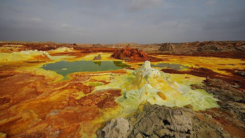 Вулкан Даллол во впадине Данакиль, Эфиопия