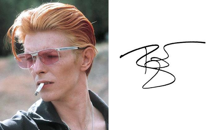 Дэвид Боуи и его подпись