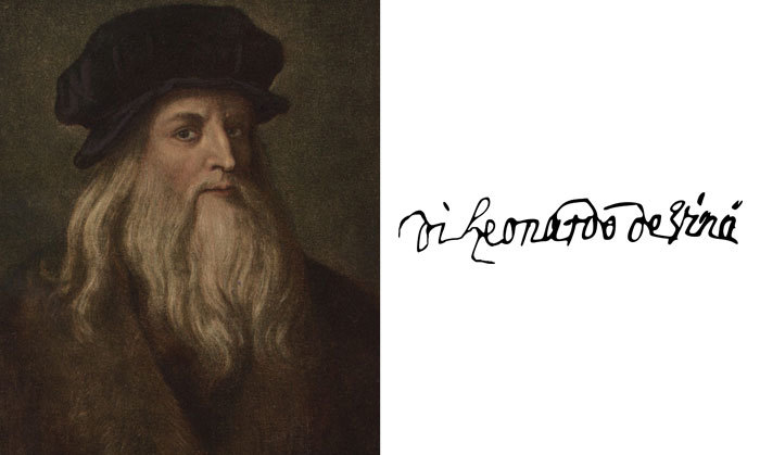 Леонардо да Винчи и его подпись