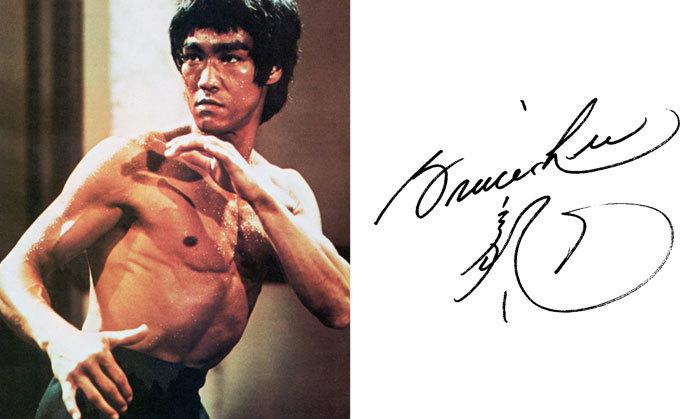 Брюс Ли и его подпись