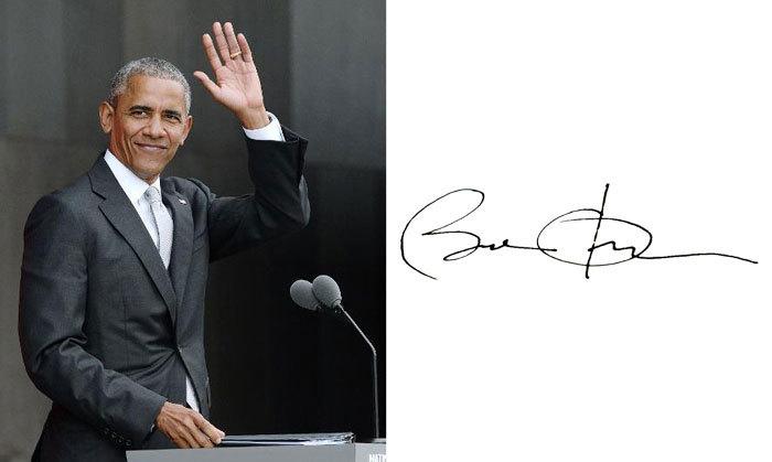 Барак Обама и его подпись